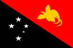 Papua New Guinea Large Country Flag - 3' x 2'.